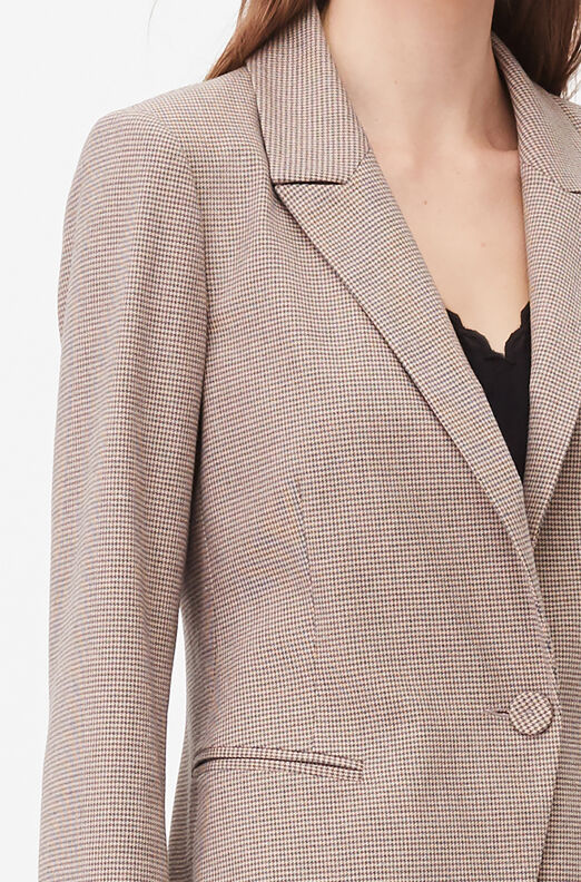 Tailored Houndstooth Suiting Jacket