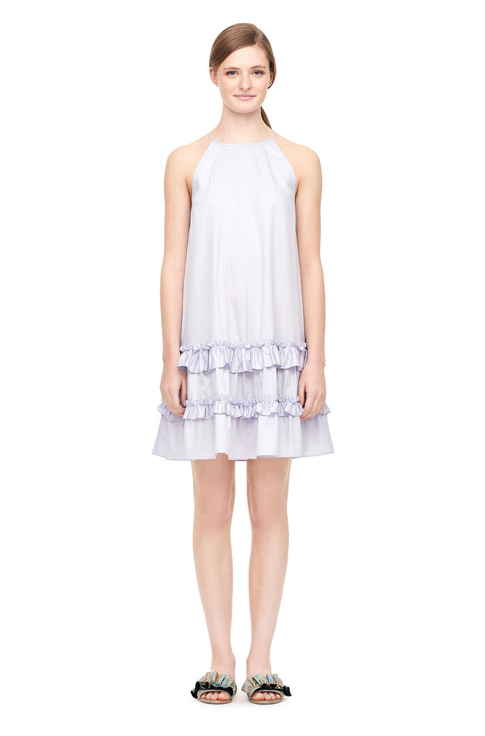 Cotton Sateen Tank Dress - Sky