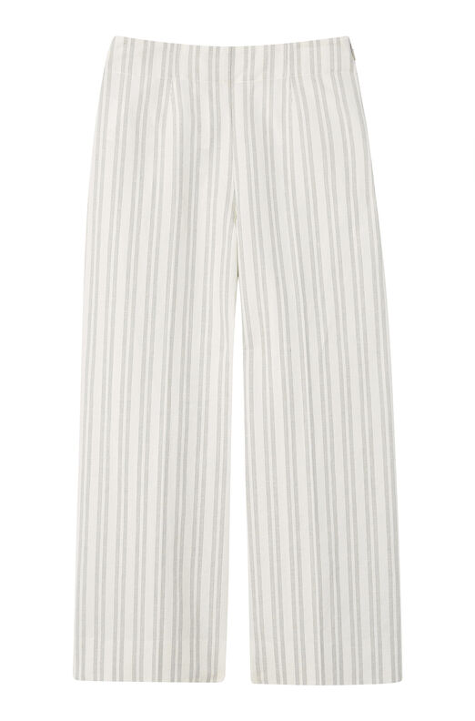 Striped Wide Leg Crop Pant