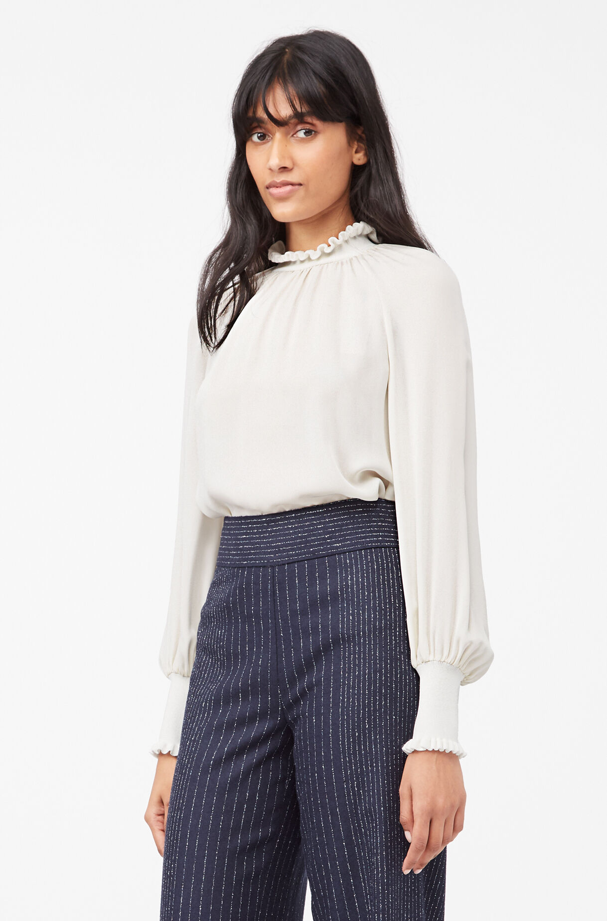 Tailored Silk Double Georgette Top