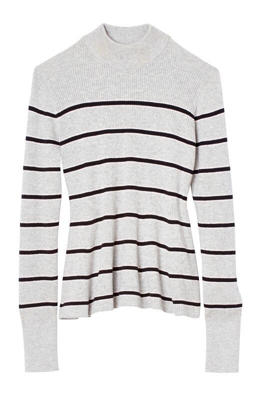 La Vie Striped Cotton Pullover
