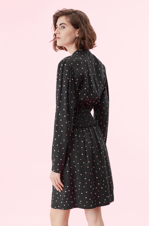 Painted Dot Jacquard Dress