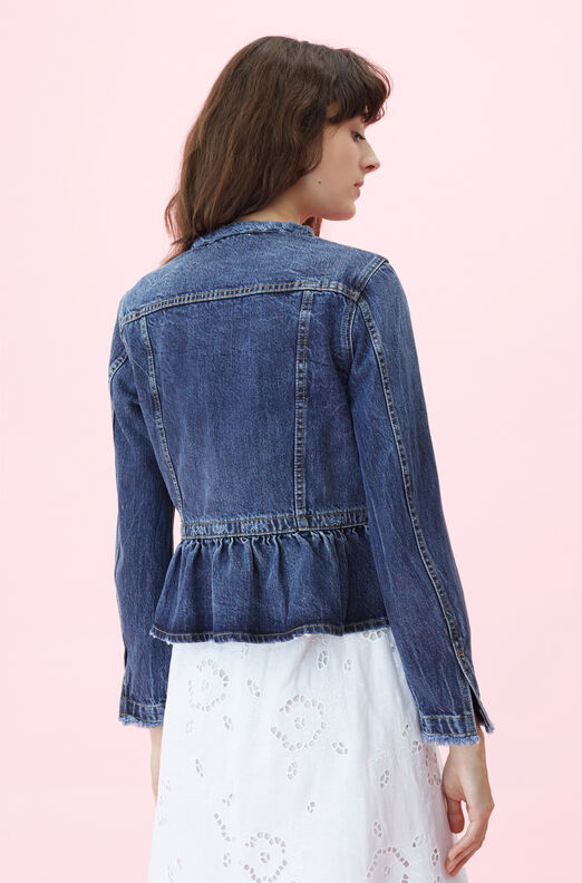 La Vie Denim Peplum Jacket