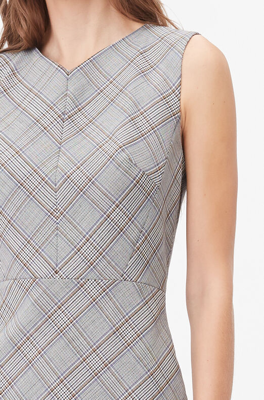 Tailored Plaid Suiting Dress