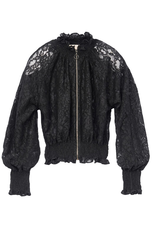 Corded Lace Bomber Jacket