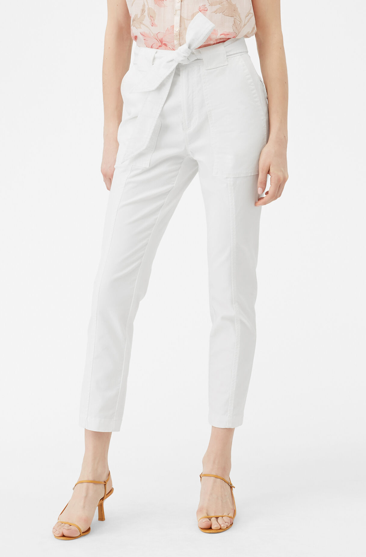 La Vie Patrice Stretch Twill Pant, Milk, large