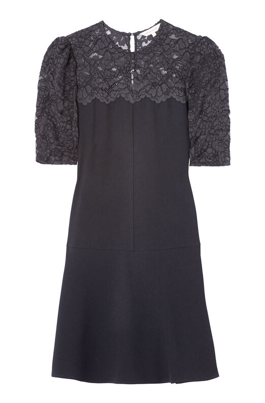 Crepe & Corded Lace Dress