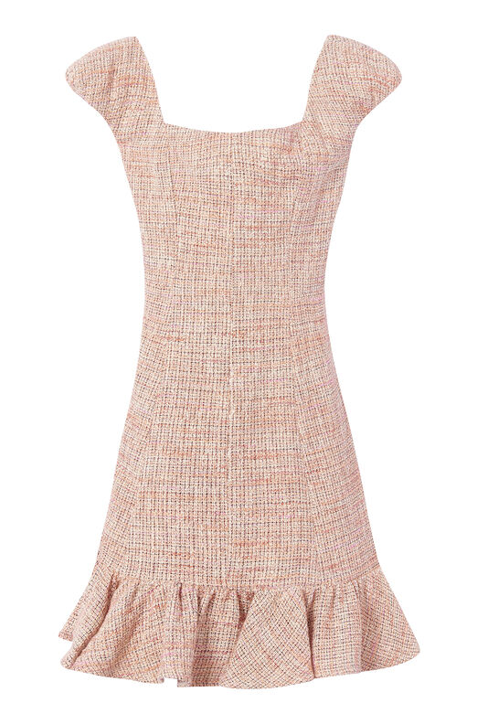 Cap Sleeve Spring Tweed Dress