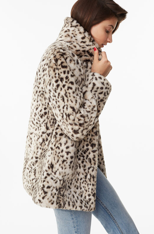 La Vie Lynx Faux Fur Coat