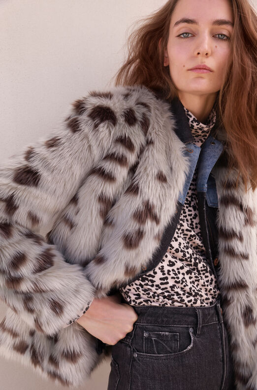 La Vie Snow Fox Faux Fur Coat