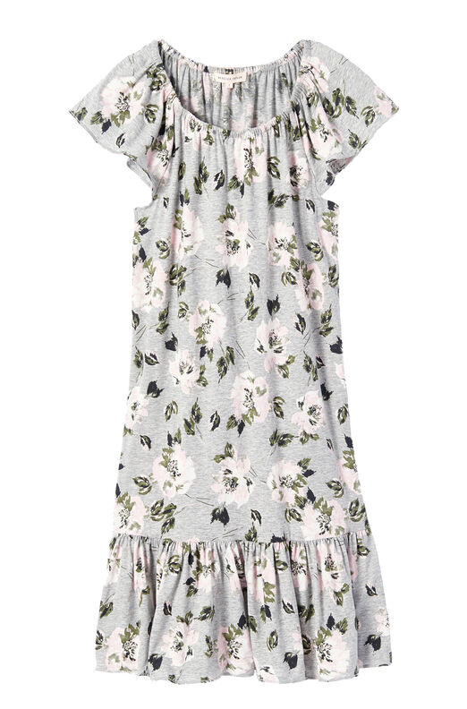 Magnolia Floral Jersey Dress