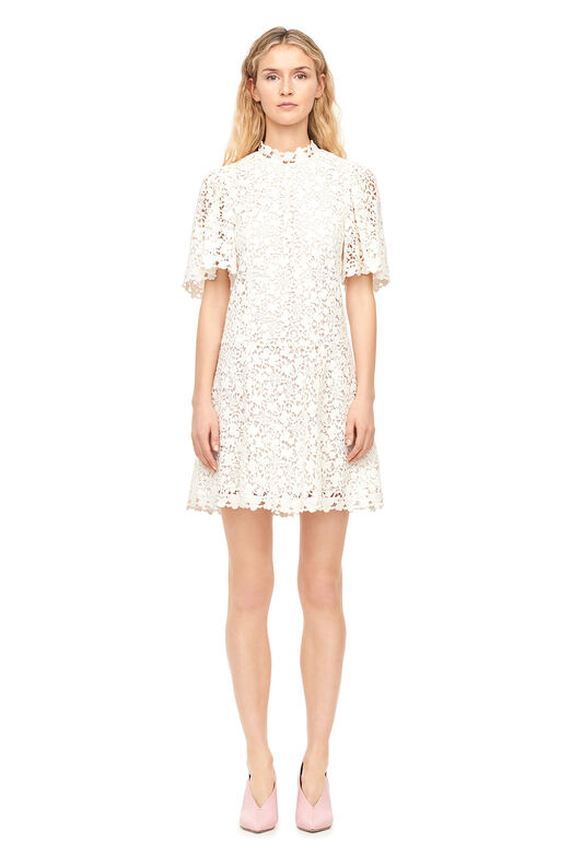 Floral Lace Dress - Snow