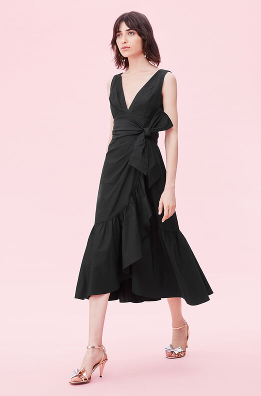 Taffeta Bow Dress