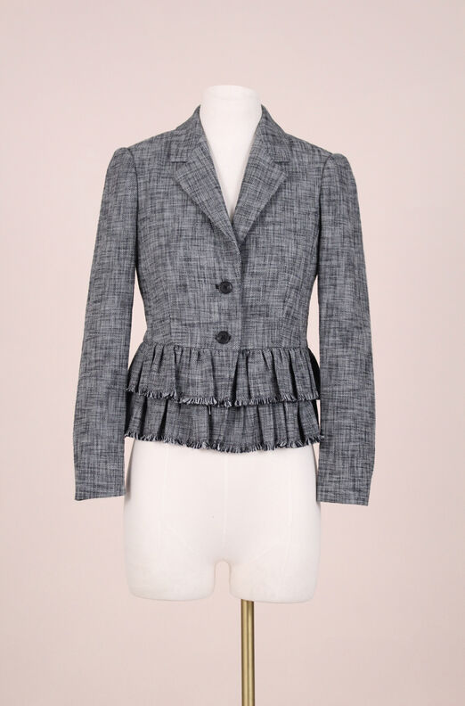 ReCollect Ruffle Suiting Jacket
