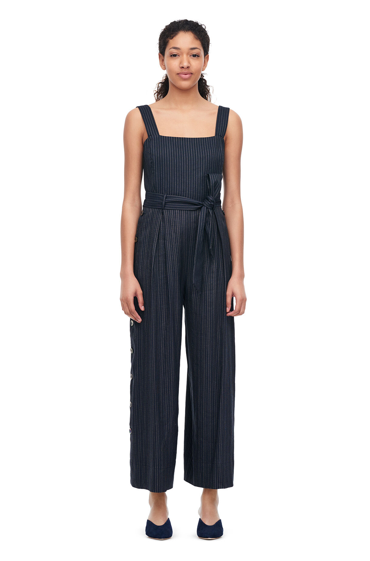Striped Suiting Jumpsuit