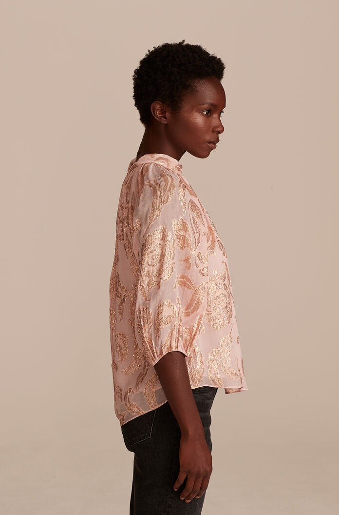 Datura Floral Top, Pale Orchid Combo, large