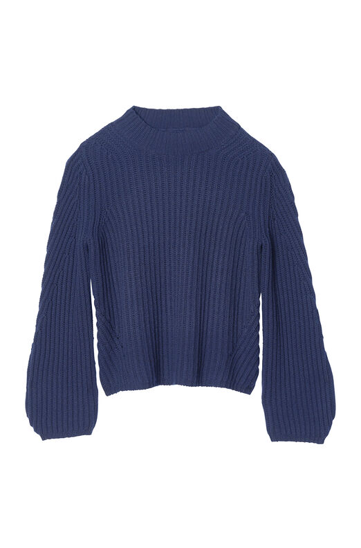 La Vie Ribbed Mock Neck Pullover