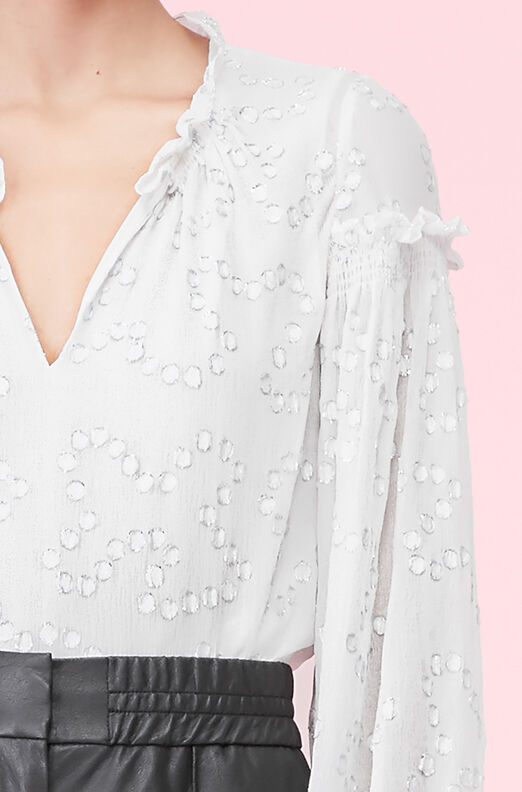 Metallic Nuage Chiffon Top