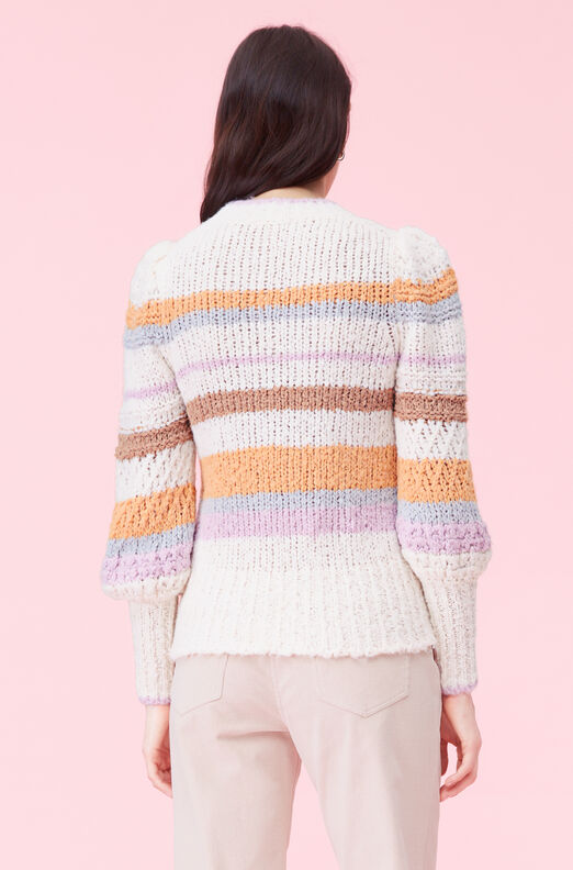Fluffy Stripe Pullover, Multi Combo, large