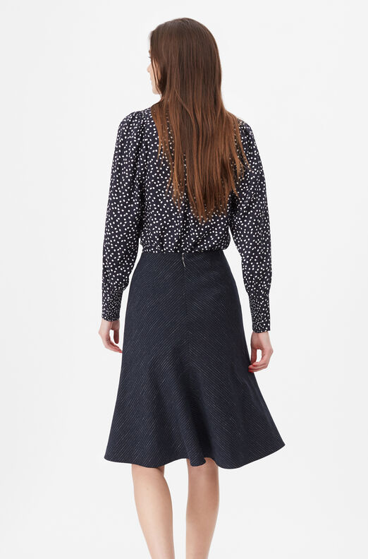 Tailored Pinstripe Suiting Skirt