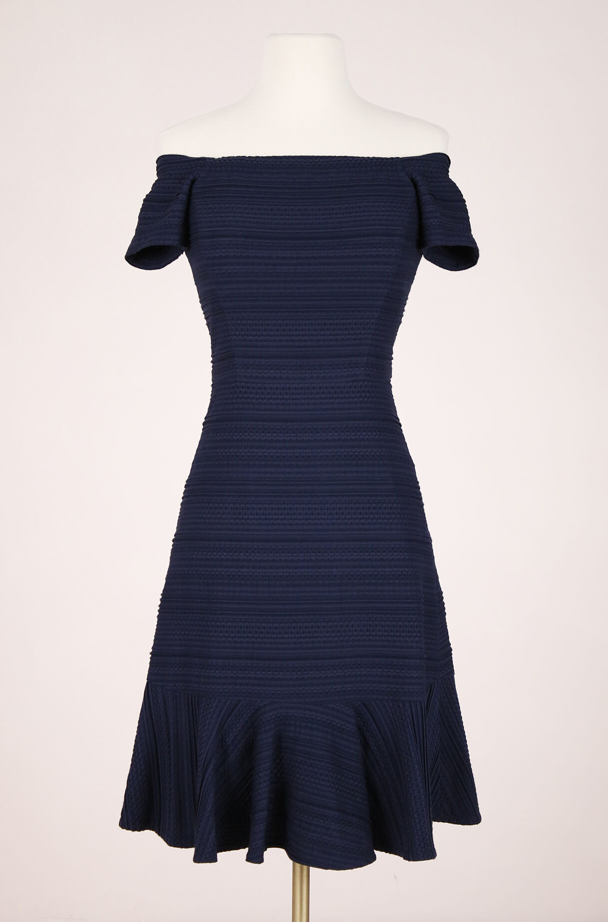 ReCollect Off-The-Shoulder Textured Dress