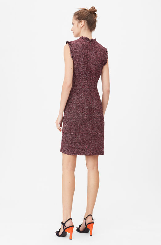 Tailored Knit Tweed Dress