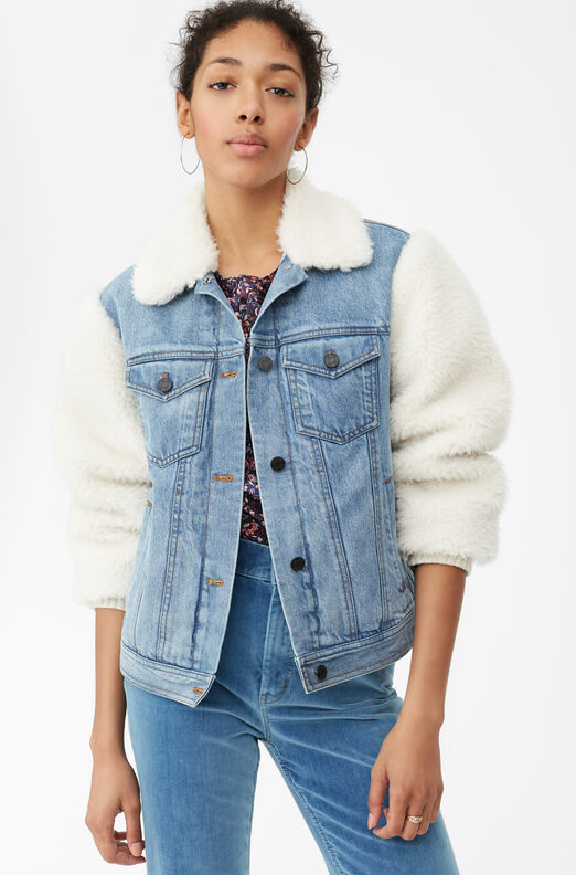 La Vie Denim & Faux Fur Jacket