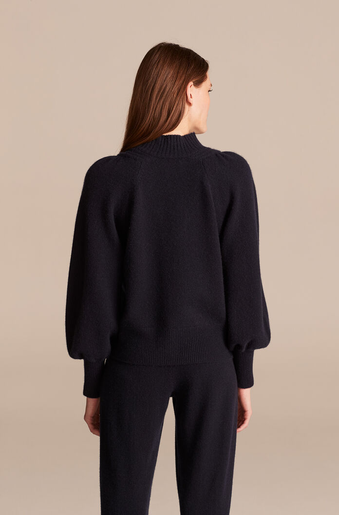 Cashmere Pullover, Navy, large