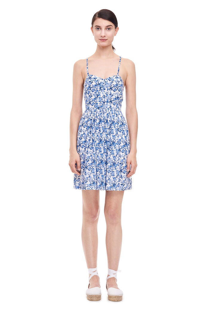 Aimee Floral Dress - Blue Combo