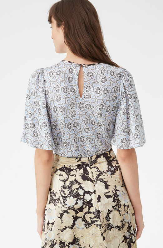 Catarina Floral Silk Jacquard Top