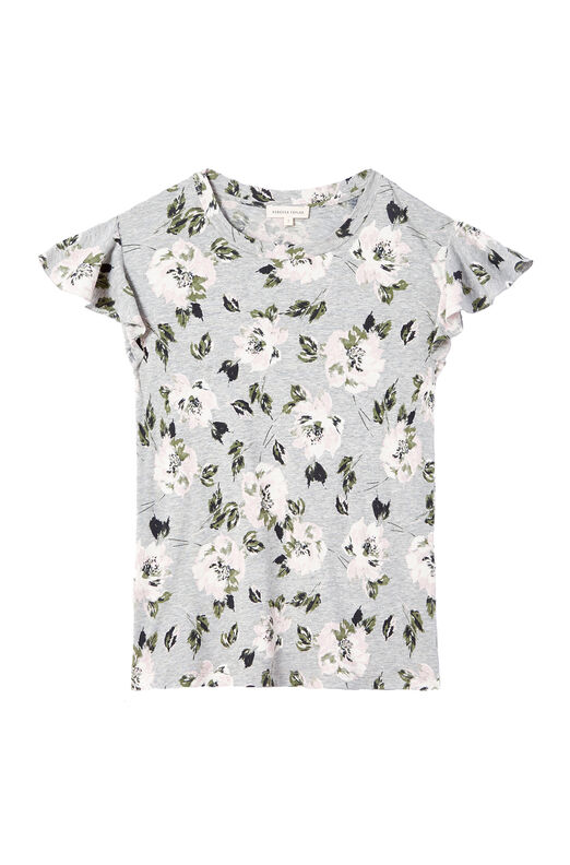 Magnolia Floral Jersey Tee