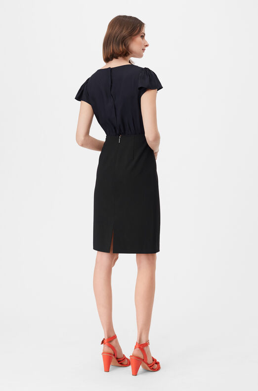 Tailored Clean Suiting & Silk Twill Dress