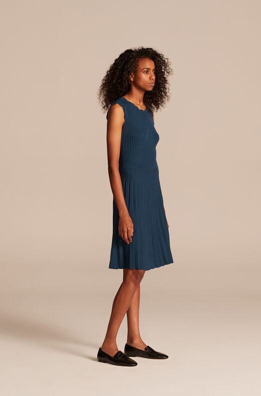 Ribbed Dress, Marine, large