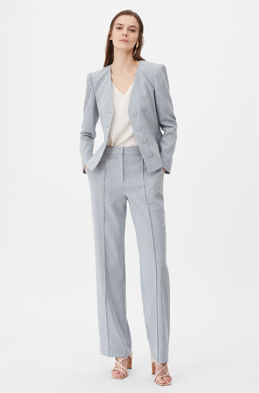 Tailored Stretch Linen Jacket