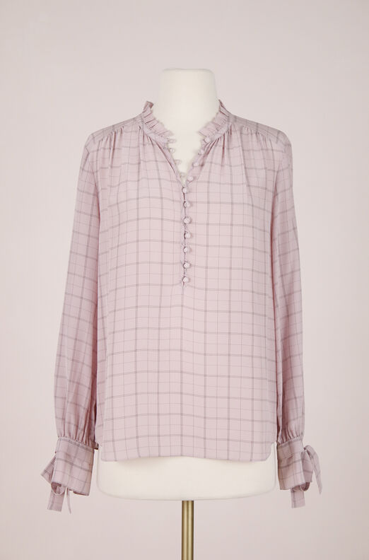 ReCollect Plaid Silk Top