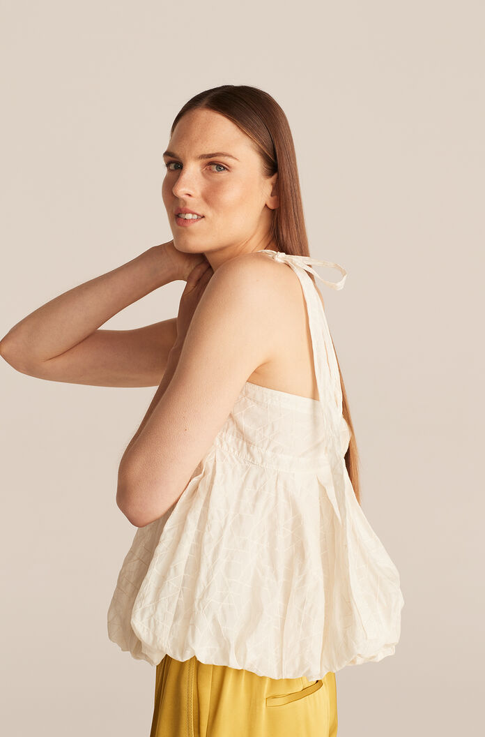 Allegra Tile Embroidery Cami Top, Snow, large