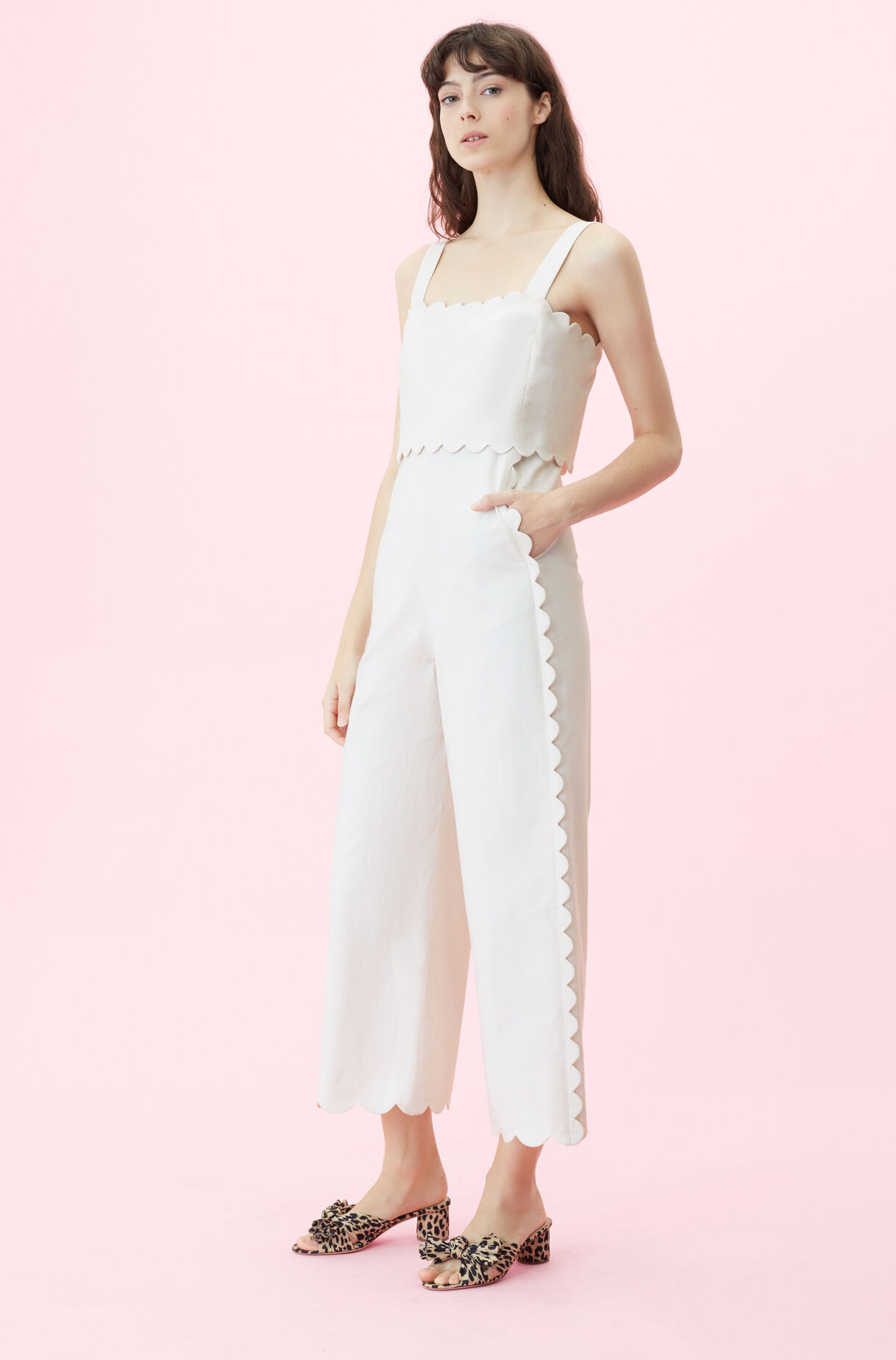 fa17767b008 119766P245-Vanilla  Scalloped Suiting Jumpsuit ...