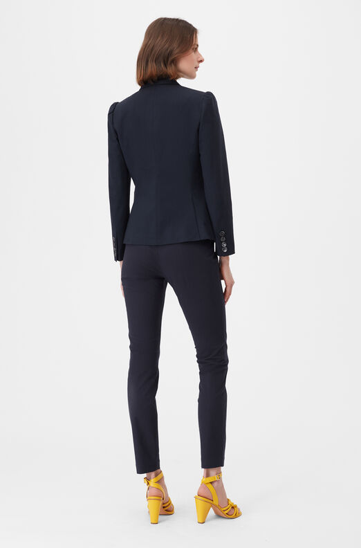 Tailored Stretch Modern Suiting Jacket, Navy, large