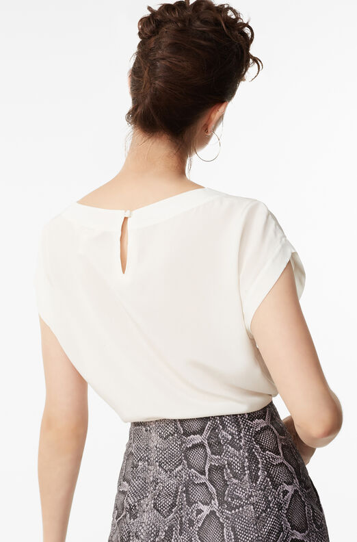 Embroidered Floral Silk Top