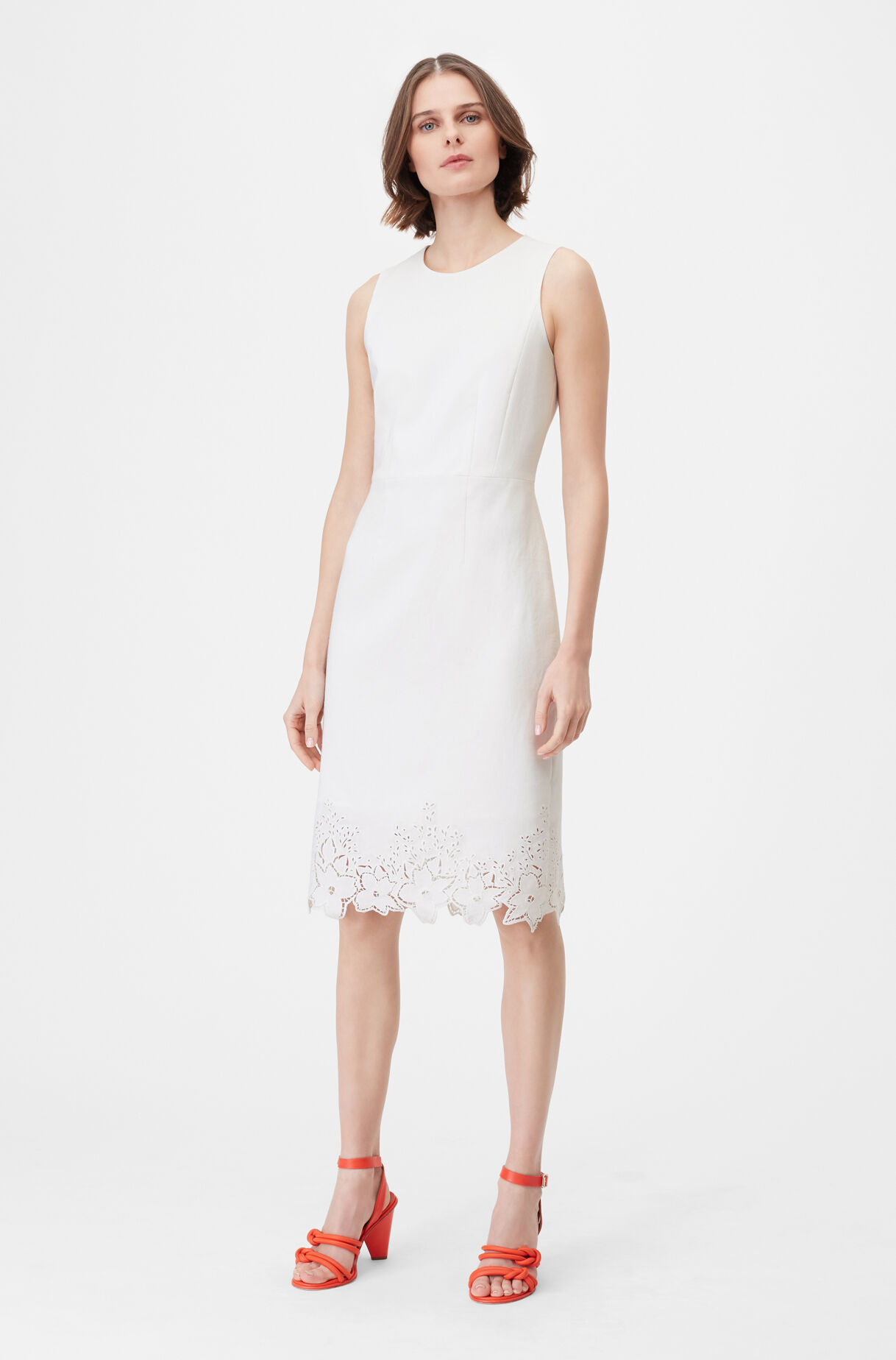 Tailored Eyelet Embroidered Dress, , large