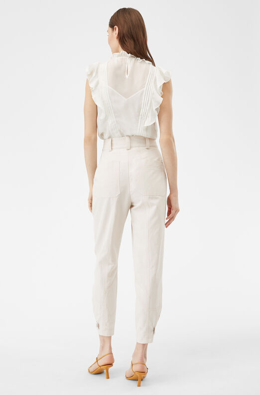 Textured Cotton Pant