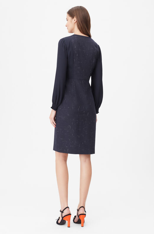 Tailored Cross Hatch Suiting Dress
