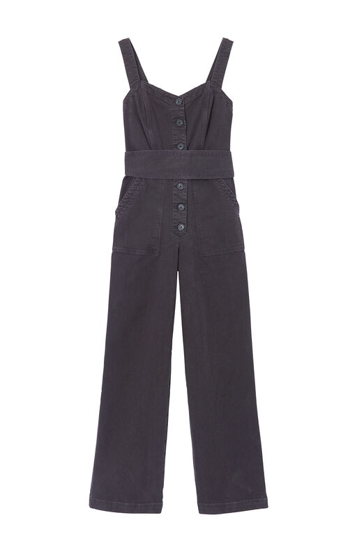 La Vie Garment-Dyed Twill Jumpsuit