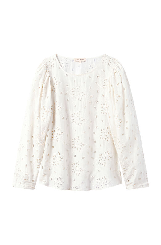 Sarah Embroidered Silk Top
