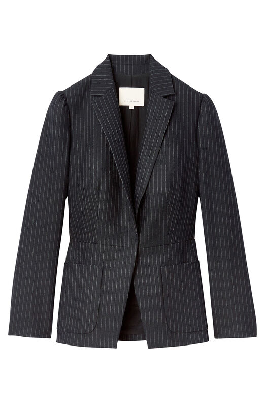 Pinstripe Suiting Blazer