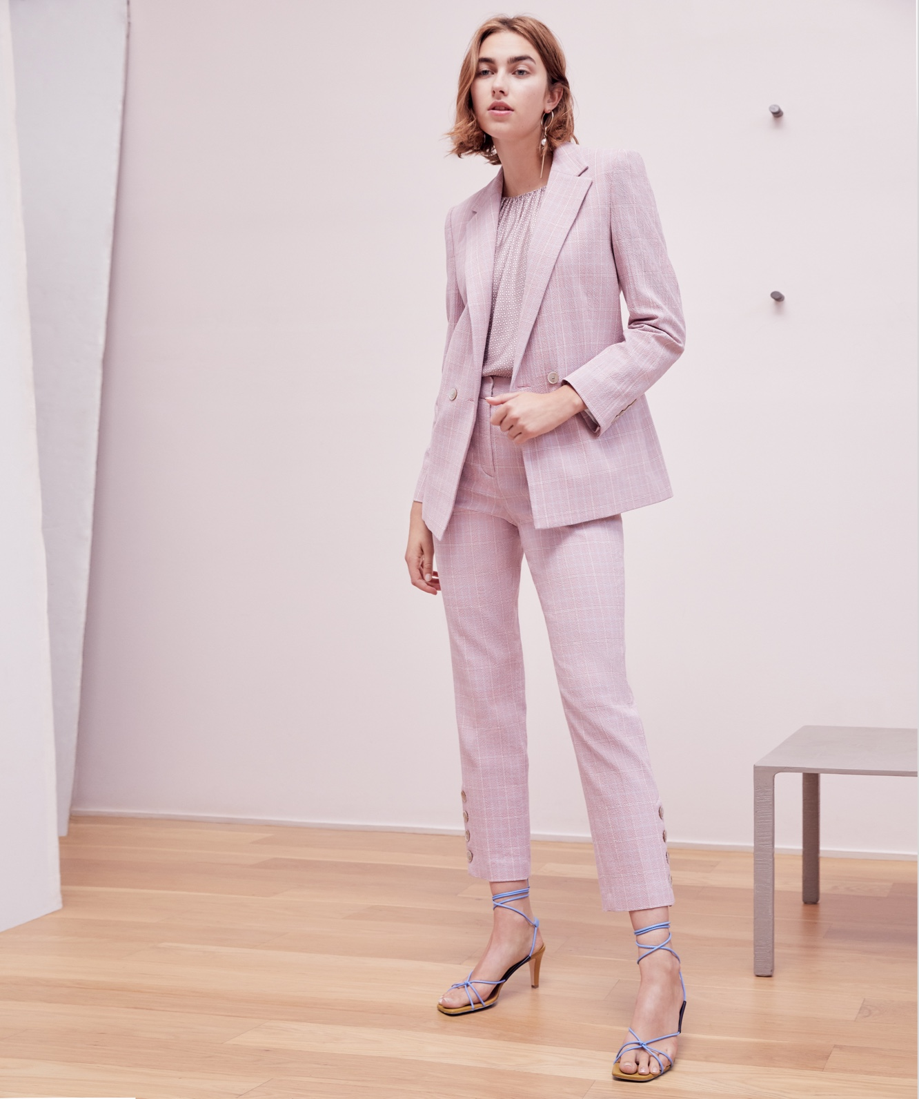 Tailored Rose Plaid Suiting Jackett