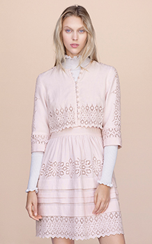 LONG SLEEVE ADELINE EMBROIDERY DRESS