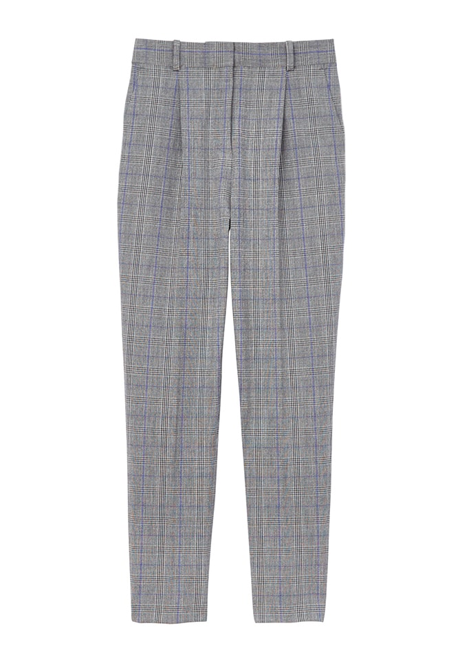Modern Check Pleat Front Pant
