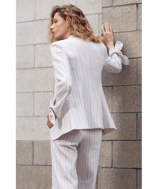 Tailored Stripe Suiting Pant