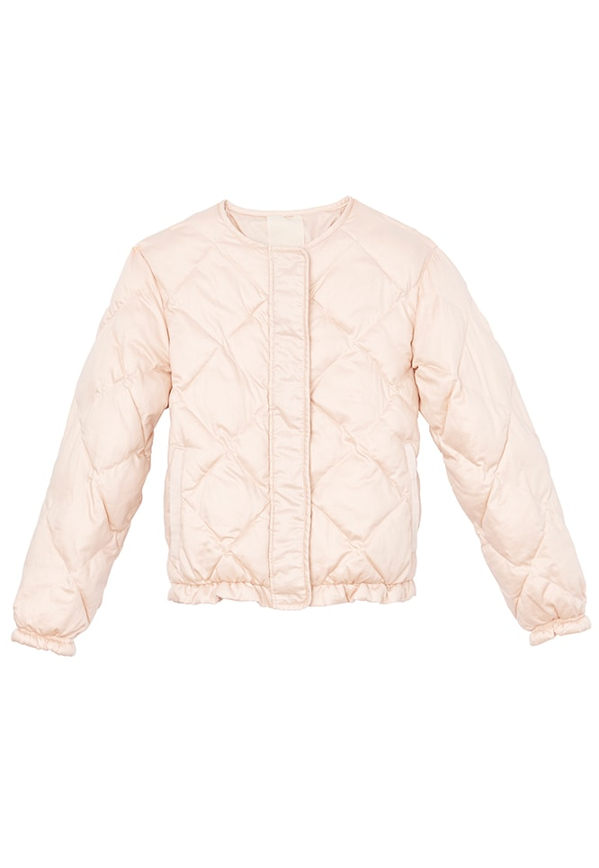 LA VIE SATEEN QUILTED BOMBER JACKET